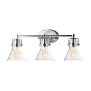 Seafarer-3 Light Bath Vanity-24.25 Inches wide by 10 inches high
