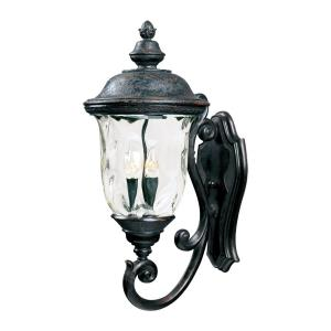 Carriage House DC-3 Light Outdoor Wall Lantern in Early American style-14 Inches wide by 31 inches high