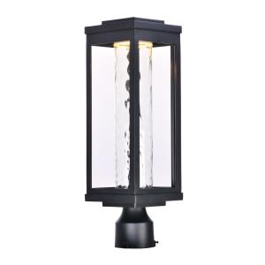 Salon-12W 1 LED Outdoor Post Mount-6 Inches wide by 19.5 inches high