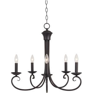 Loft-5 Light Chandelier in Early American style-25 Inches wide by 23 inches high