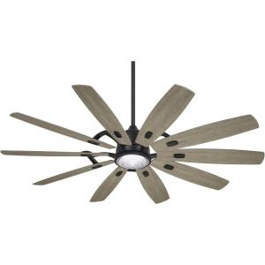 Barn - 65 Inch Rustic 10 Blade Ceiling Fan with Light Kit