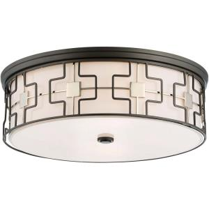 5 Light Flush Mount in Transitional Style - 6.75 inches tall by 20 inches wide