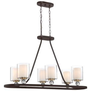 Studio 5 - 6 Light Island in Transitional Style - 23.5 inches tall by 14 inches wide