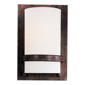 1 Light Wall Sconce in Transitional Style - 10 inches tall by 6.5 inches wide