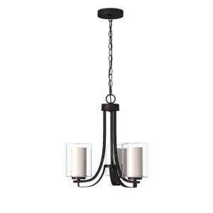 Parsons Studio - Chandelier 3 Light Smoked Iron in Transitional Style - 18.5 inches tall by 18 inches wide