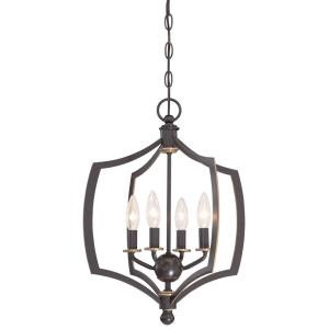 Middletown - Mini Chandelier 4 Light Downton Bronze/Gold in Transitional Style - 20.25 inches tall by 16 inches wide