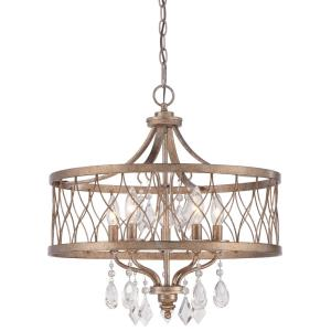 West Liberty - Chandelier 5 Light Olympus Gold in Traditional Style - 21 inches tall by 20.5 inches wide