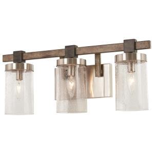 Bridlewood - 3 Light Bath Vanity Approved for Damp Locations in Transitional Style - 8.75 inches tall by 22.5 inches wide