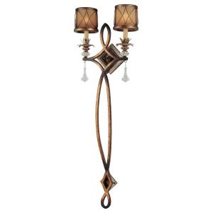 Aston Court - 2 Light Pin-Up Wall Sconce in Traditional Style - 44.5 inches tall by 15.5 inches wide
