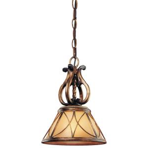 Aston Court - 1 Light Mini Pendant in Traditional Style - 13.5 inches tall by 10 inches wide