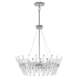 Echo Radiance - 8 Light Pendant in Contemporary Style - 23 inches tall by 24.5 inches wide