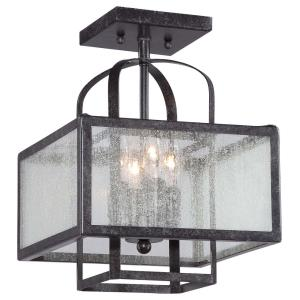 Camden Square - 4 Light Semi-Flush Mount in Transitional Style - 12.5 inches tall by 11 inches wide
