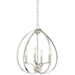 Tilbury - 4 Light Pendant in Transitional Style - 20.5 inches tall by 19 inches wide