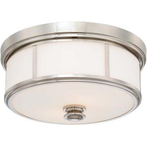 5 Light Flush Mount in Traditional Style - 7 inches tall by 20 inches wide