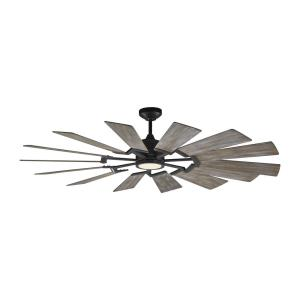 Prairie 62 - 14 Blade Ceiling Fan with Handheld Control and Includes Light Kit - 62 Inches Wide by 14.14 Inches High