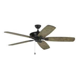Colony Super Max - 5 Blade Ceiling Fan with Pull Chain Control in Transitional Style - 60 Inches Wide by 12.8 Inches High