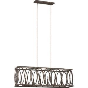 Sean Lavin-Linear Chandelier 6 Light Steel in Transitional Style-10.38 Inches Wide by 15.5 Inches Tall