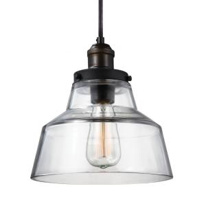 Baskin - Pendant 1 Light in Modern Style - 10 Inches Wide by 10.38 Inches High
