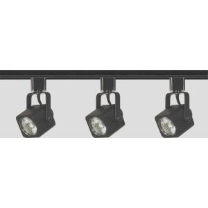 Three Light Line Voltage Square Track Kit-3.5 Inches Wide by 1.5 Inches High