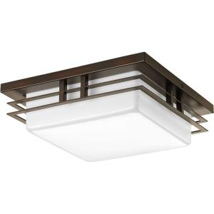 Helm LED - Close-to-Ceiling Light - 1 Light in Modern Craftsman and Modern style - 11 Inches wide by 3.75 Inches high