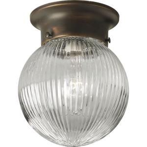 Glass Globes - Close-to-Ceiling Light - 1 Light - Globe Shade in Transitional and Traditional style - 6.38 Inches wide by 7.25 Inches high
