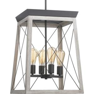 Briarwood 4-Light Caged Lantern Pendant - 20.13 Inches Tall and 15.5 Inches Wide