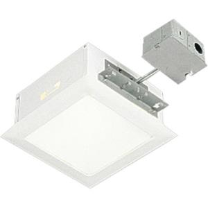 Recessed Complete Kit - 9.5 Inch Width - 1 Light - Line Voltage - Damp Rated