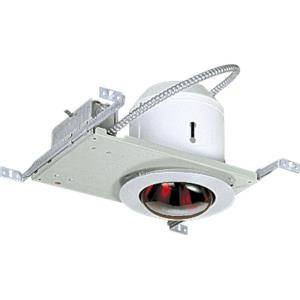 Recessed Complete Kit - 8.375 Inch Width - 1 Light - Line Voltage - Damp Rated