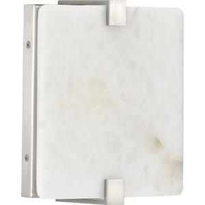 LED Alabaster Stone Sconce - Wall Sconces Light - 1 Light - Square Shade in Modern style - 8 Inches wide by 8.5 Inches high