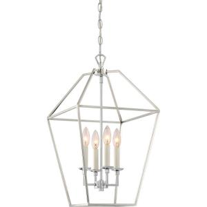 Aviary Large Cage Chandelier 4 Light Steel - 23.25 Inches high