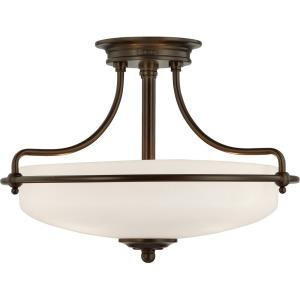 Griffin - 3 Light Semi-Flush Mount - 12 Inches high