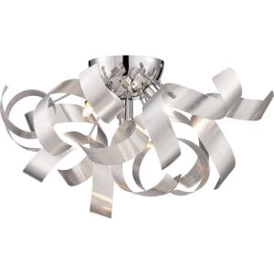 Ribbons - 4 Light Flush Mount - 8 Inches high