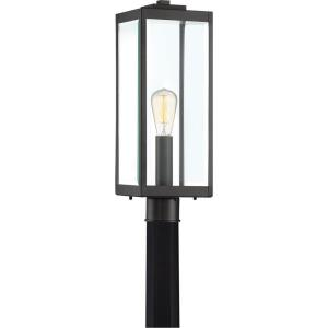 Westover 1-Light Outdoor Post Lantern in Transitional Style 20.5 Inches Tall and 7 Inches Wide