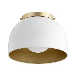 Dome - 1 Light Flush Mount in style - 11.25 inches wide by 8 inches high