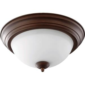 2 Light Flush Mount in Traditional style - 13.5 inches wide by 6 inches high