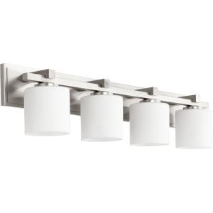 4 Light Cylinder Bath Vanity in style - 33 inches wide by 7.5 inches high