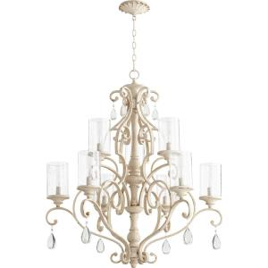 San Miguel - 9 Light 2-Tier Chandelier in Transitional style - 32 inches wide by 37 inches high
