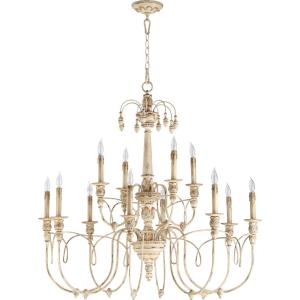Salento - Twelve Light 2-Tier Chandelier in Transitional style - 39 inches wide by 37.25 inches high