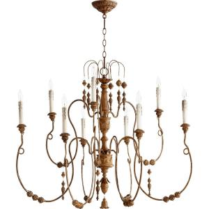 Salento - 9 Light 2-Tier Chandelier in Transitional style - 40.5 inches wide by 32 inches high