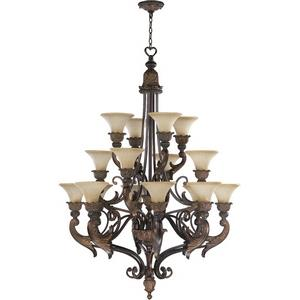Madeleine - Sixteen Light 3-Tier Chandelier in Traditional style - 40 inches wide by 55.25 inches high