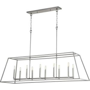 Gabriel - Ten Light Linear Pendant in Quorum Home Collection style - 17 inches wide by 16.25 inches high