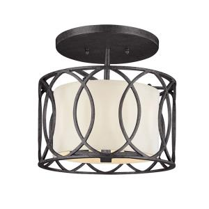 Sausalito-3 Light Semi-Flush Mount-12.25 Inches Wide by 11.5 Inches High
