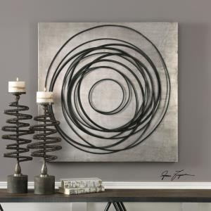 Whirlwind - 36.5 inch Iron Coils Wall Art