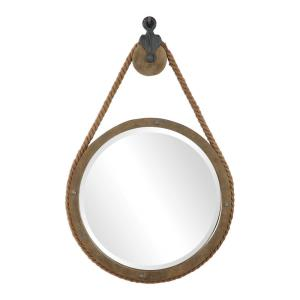 Melton - 36.5 inch Round Pulley Mirror - 25 inches wide by 3.5 inches deep