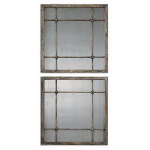 Saragano - 19 inch Square Mirror (Set of 2) - 19 inches wide by 1 inches deep