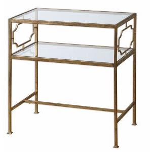 Genell - 25.75 inch Side Table - 23.88 inches wide by 14 inches deep