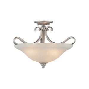 Monrovia Semi Flush Ceiling Light-17 Inches Wide by 12 Inches High