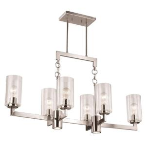 Addison-Eight Light Linear Chandelier-37.5 Inches Wide by 20 Inches High
