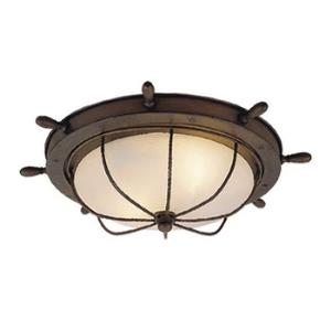 Nautical-Indoor/Outdoor Ceiling Mount-15 Inches Wide by 5 Inches High
