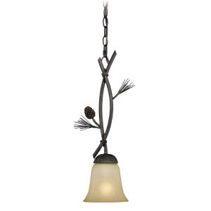 Sierra-One Light Mini Pendant-5.75 Inches Wide by 19.75 Inches High
